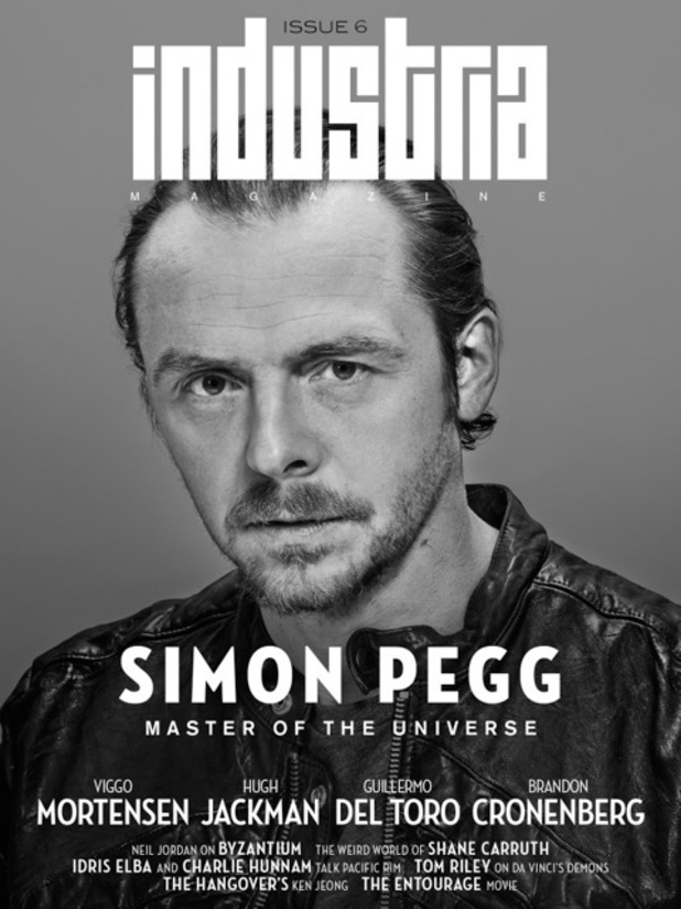 Simon Pegg covers 'Industria' magazine
