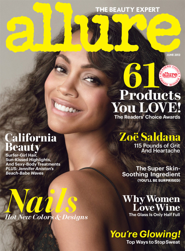 Zoe Saldana cover shoot for Allure magazine