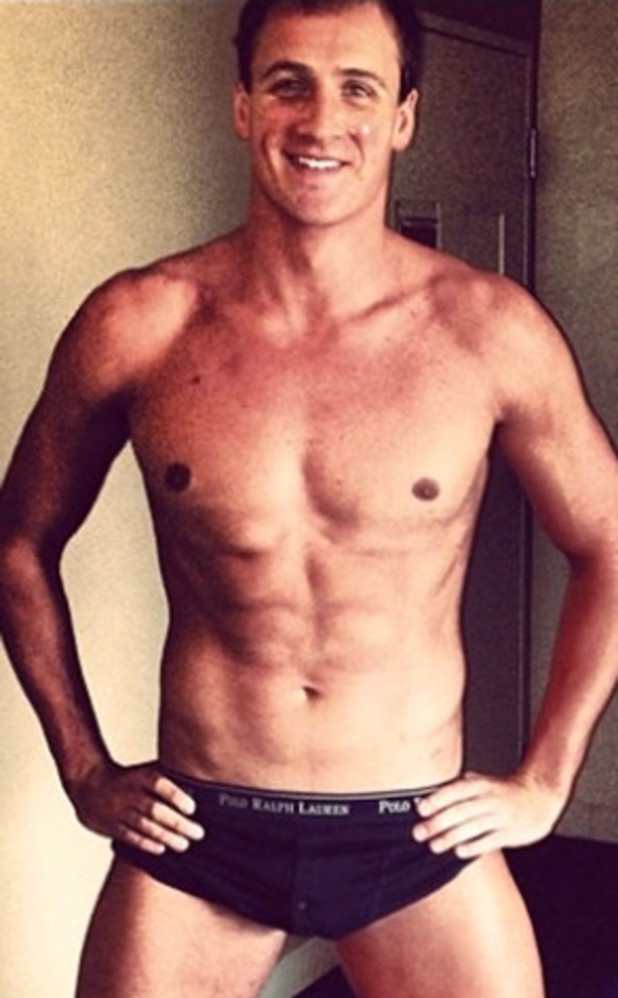 Ryan Lochte, instagram, shirtless, pants