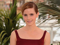 Emma Watson looks chic and reveals her midriff at Bling Ring photocall in Cannes.