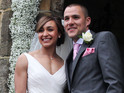 They wed in front of friends and family in a Peak District ceremony.
