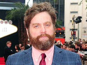 Zach Galifianakis arriving for the UK premiere of 'The Hangover: Part III' in London