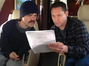 Bryan Singer & Peter Dinklage on the &#39;X-Men: Days of Future Past&#39; set