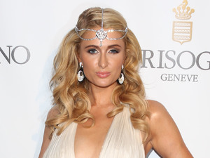Paris Hilton, De Grisogono Eden Roc during 66th Cannes Film festival, plunging gown, diamond headdress