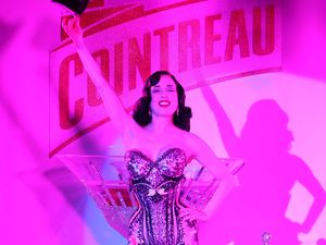 The burlesque star teams up with Cointreau at the film festival.