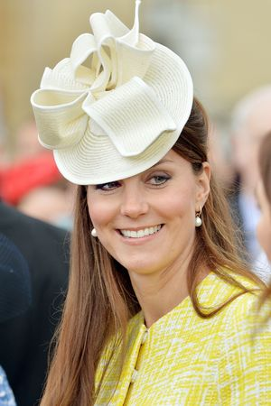 Duchess of Cambridge, Kate Middleton, Buckingham Palace Garden Party, Emilia Wickstead coat, canary yellow