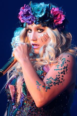 Ke$ha in concert on her Warrior Tour at the Golden Nugget Casino in Atlantic City, New Jersey, America.