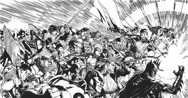 Doug Mahnke 'Trinity War' Triptych covers
