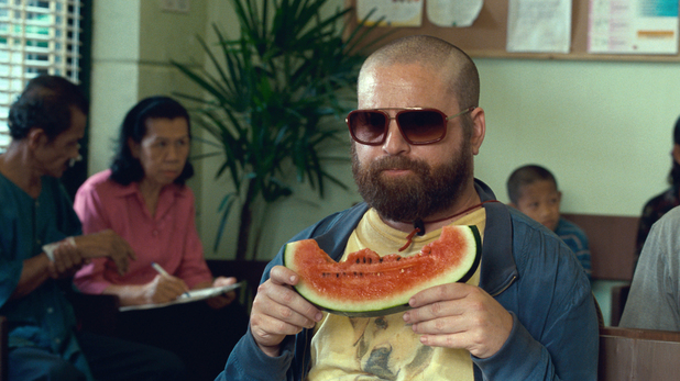 Alan Garner eating melon
