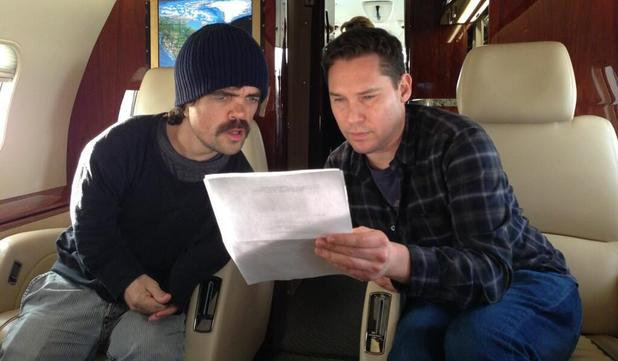 Bryan Singer & Peter Dinklage on the 'X-Men: Days of Future Past' set