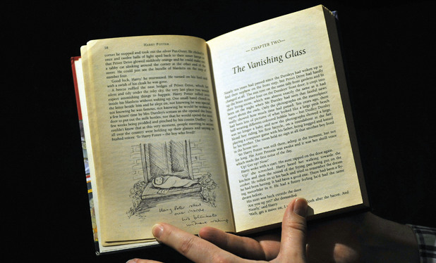 First edition Harry Potter book annotated by JK Rowling