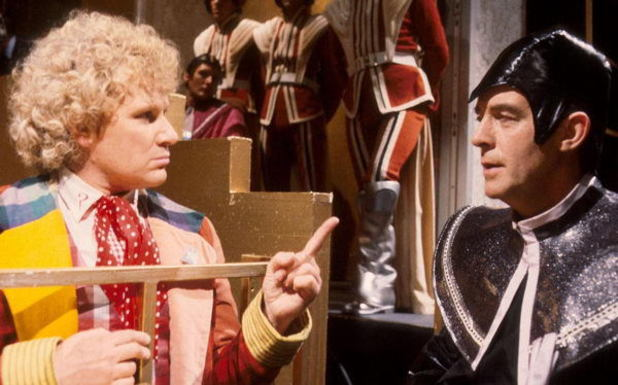 Colin Baker and Michael Jayston in 'Doctor Who'