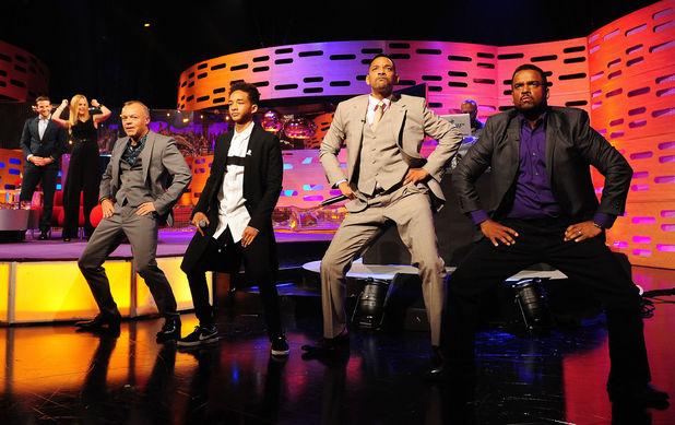 Graham Norton, Jaden Smith, Will Smith and Alfonso Ribeiro on the Graham Norton show.