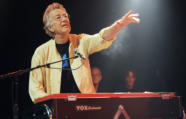 Ray Manzarek of The Doors performs at the Sunset Strip Music Festival launch party celebrating The Doors at the House of Blues on Thursday, Aug. 16, 2012 in West Hollywood, Calif.