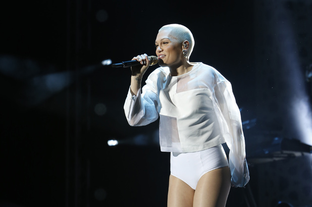 Jessie J performs during a concert at Morocco's annual Mawazine Music Festival.