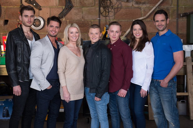 The Roscoe family in Hollyoaks