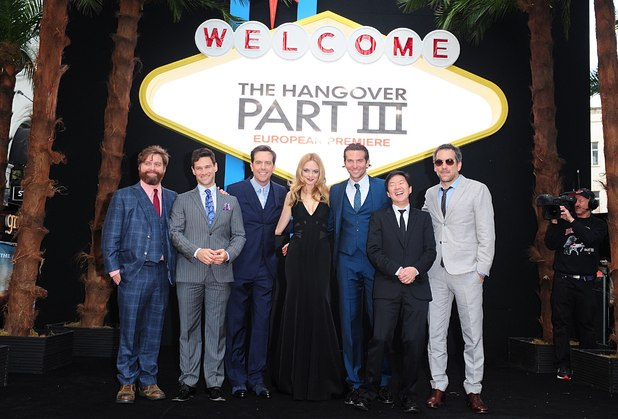 The main cast of 'The Hangover: Part III' at the UK premiere in London