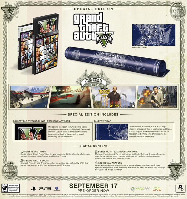 The 'Grand Theft Auto Five' special edition