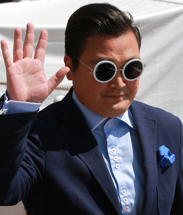 A look-a-like Psy at Cannes 2013