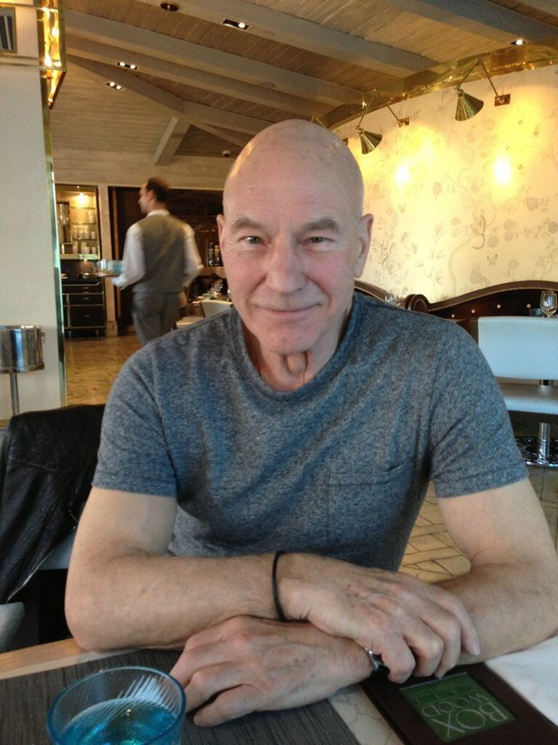 Reuniting with Patrick Stewart
