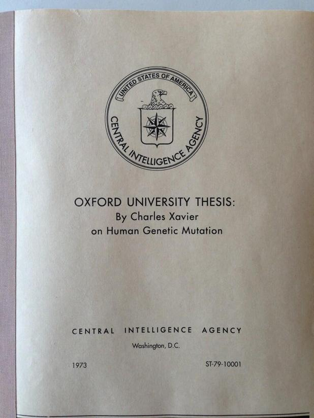 Charles Xavier's Oxford University thesis