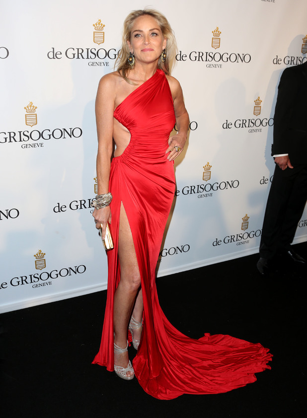 De Grisogono Eden Roc during 66th Cannes Film festival, cut out detail, red gown