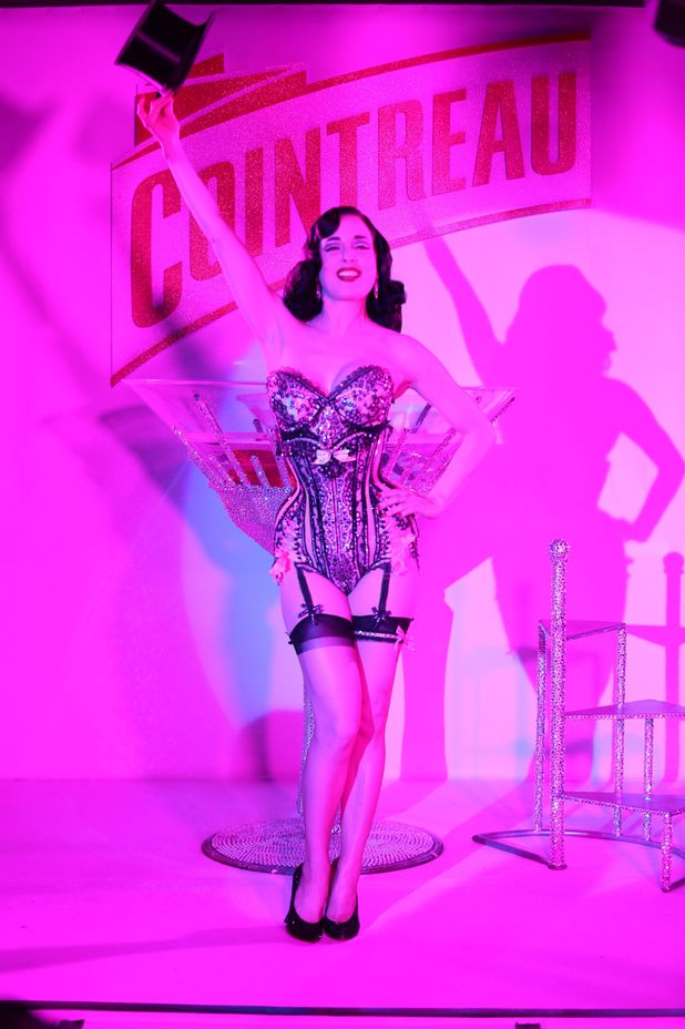 Dita Von Teese at Cannes Festival 2013 with Justin Weston, Cointreau CEO