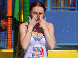 Natasha Hamilton, swimsuit, £2.5 million DUPLO Valley Splash & Play attraction at the LEGOLAND Windsor Resort.
