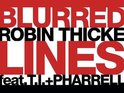Robin Thicke &#39;Blurred Lines&#39; artwork