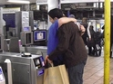 People traveling on the London Underground were seen hugging staff.