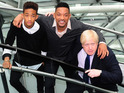 Jayden Smith, Will Smith join London Mayor Boris Johnson to celebrate the achievements of the Mayor's Leadership Clubs