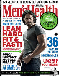 The Men's Health July issue cover