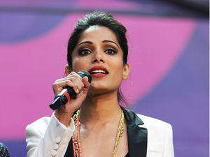 Freida Pinto at the Sound of Change concert in London