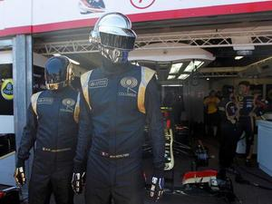 Daft Punk attend the 2013 Monaco Grand Prix