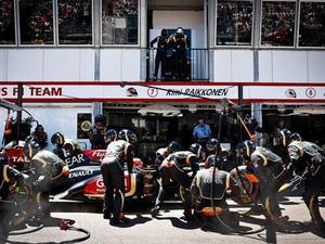 Daft Punk watch a pit stop at the 2013 Monaco Grand Prix