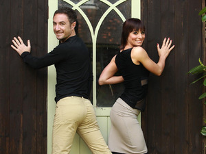 Strictly Come Dancing dancers Vincent Simone and Flavia Cacace are revealed as the winners of the Rear of the Year Award in Guildford