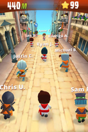 'Running with Friends' on iOS