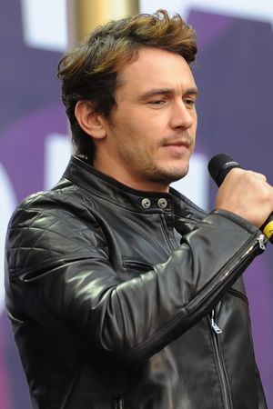James Franco and Jessica Chastain at the Chime for Change Live concert held at Twickenham Stadium, London.