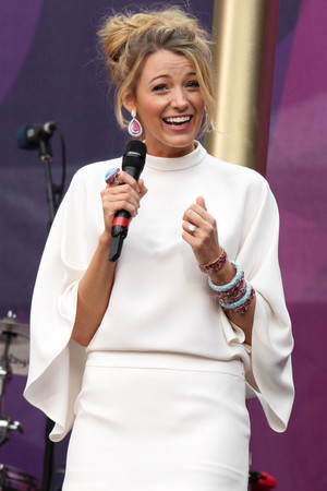Blake Lively at the Chime for Change Live concert held at Twickenham Stadium, London.