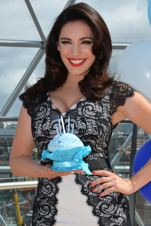 Kelly Brook kicks off Victoria Square's 5th Birthday Bash in Belfast.