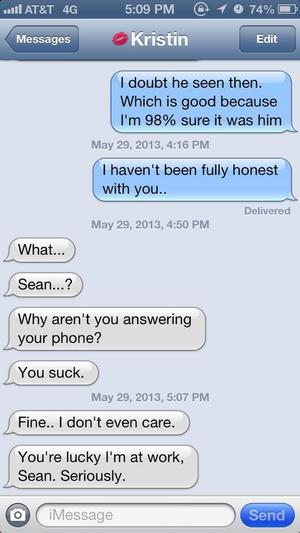 Nathan Fielder relationship text prank