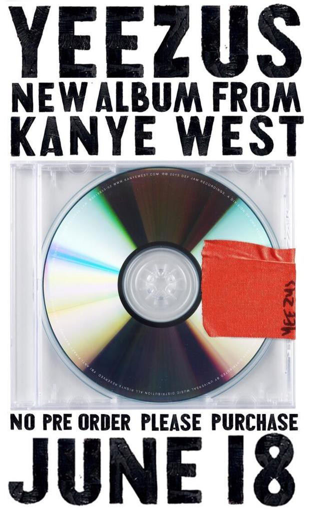 Kanye West new album 'Yeezus' advert.