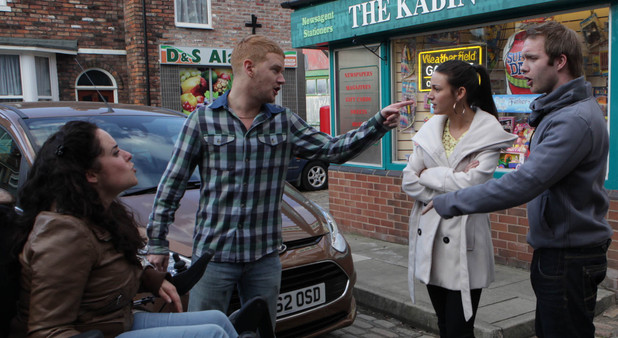 8145: Tina delivers the bombshell that she intends to keep jake, which leads to an angry reaction from Izzy and Gary