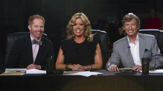 Jesse Tyler Ferguson joins Nigel Lythgoe and Mary Murphy on 'So You Think You Can Dance' in Los Angeles