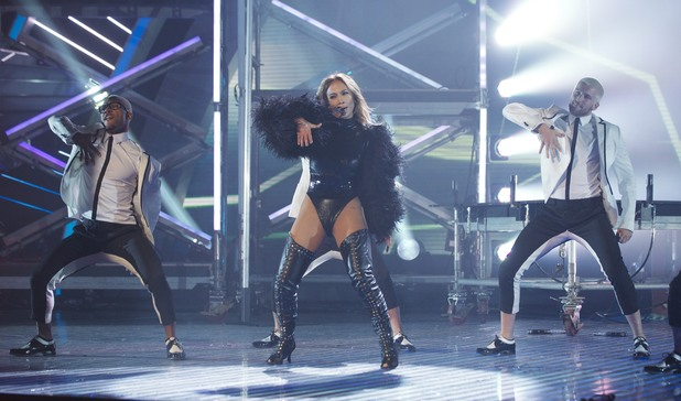 Jennifer Lopez performs live on the second 'Britain's Got Talent' Semi-final show