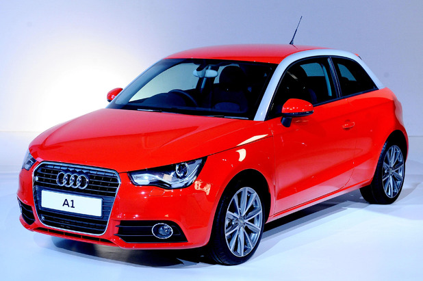 A general view of the new Audi A1 launched in 2010.