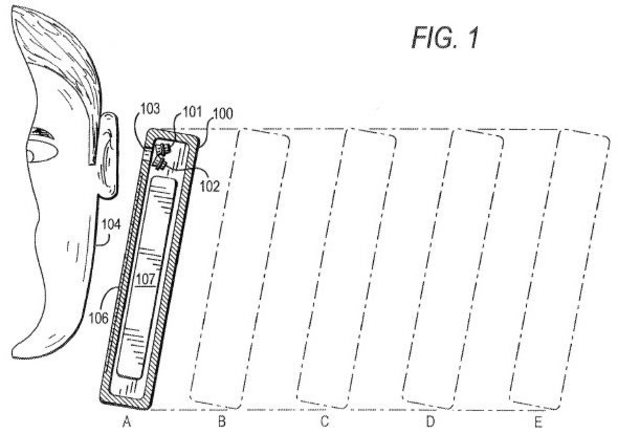 Apple ear proximity volume adjustment patent