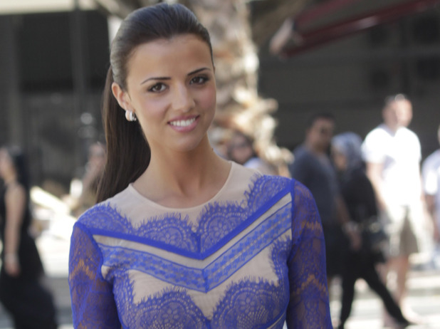 Lucy Mecklenburgh filming for TOWIE in Marbella