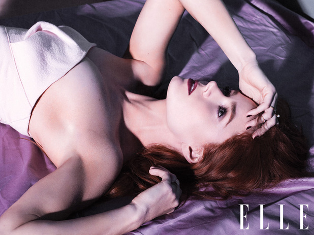 Amy Adams photo shoot for Elle UK July Issue