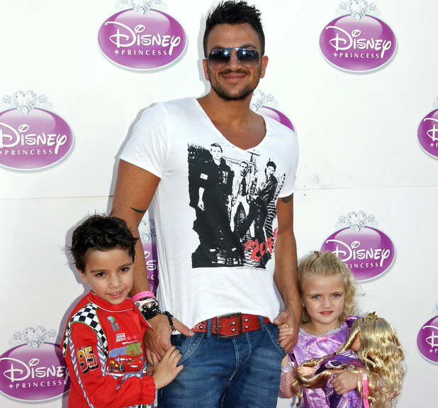 Peter Andre with children Junior and Princess.